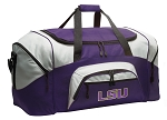 LARGE LSU Duffle Bags & Gym Bags