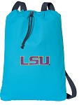 LSU Cotton Drawstring Bag Backpacks Blue