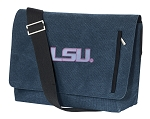 LSU Messenger Bags STYLISH WASHED COTTON CANVAS Blue