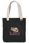 LSU Tote Bag RICH COTTON CANVAS Black