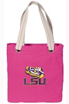 LSU Tote Bag RICH COTTON CANVAS Pink