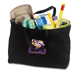 LSU Jumbo Tote Bag Black