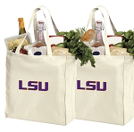 LSU Shopping Bags LSU Tigers Grocery Bags 2 PC SET
