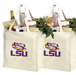 LSU Tigers Shopping Bags LSU Grocery Bags 2 PC SET
