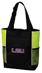 LSU Tigers Tote Bag COOL LIME