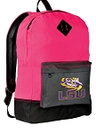 LSU Backpack Classic Style HOT PINK