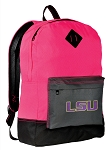 LSU Tigers Backpack Classic Style HOT PINK