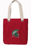 Michigan State Tote Bag RICH COTTON CANVAS Red
