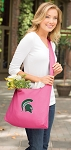 Michigan State Tote Bag Sling Style Pink