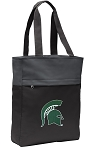 Michigan State Tote Bag Everyday Carryall Black