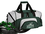 Michigan State Peace Frog Small Duffle Bag Green