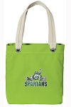 Michigan State Peace Frog Tote Bag RICH COTTON CANVAS Green