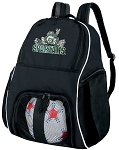 Michigan State Peace Frog Ball Backpack Bag