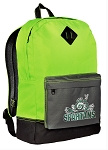 Michigan State Backpack HI VISIBILITY Green Michigan State Peace Frogs CLASSIC STYLE