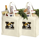 University of Missouri Shopping Bags Mizzou Grocery Bags 2 PC SET