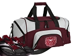 SMALL Missouri State University Gym Bag Missouri State Bears Duffle Maroon