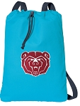 Missouri State Cotton Drawstring Bag Backpacks Blue