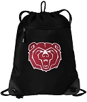 Missouri State Bears Drawstring Backpack-MESH & MICROFIBER