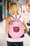Missouri State Bears Drawstring Bag Mesh and Microfiber Pink