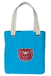 Missouri State Tote Bag RICH COTTON CANVAS Turquoise