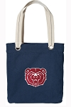 Missouri State Tote Bag RICH COTTON CANVAS Navy