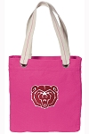 Missouri State Tote Bag RICH COTTON CANVAS Pink