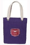 Missouri State Tote Bag RICH COTTON CANVAS Purple