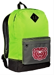 Missouri State University Backpack HI VISIBILITY Green Missouri State Bears CLASSIC STYLE
