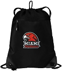 Miami University Redhawks Drawstring Backpack-MESH & MICROFIBER