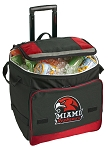 Miami University Redhawks Rolling Cooler Bag Red