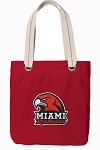 Miami University Tote Bag RICH COTTON CANVAS Red