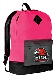 Miami RedHawks Backpack HI VISIBILITY Miami University CLASSIC STYLE For Her Girls Women