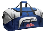 Ole Miss Duffle Bag or University of Mississippi Gym Bags Blue