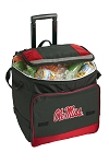 University of Mississippi Rolling Cooler Bag Red