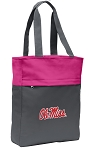 Ole Miss Tote Bag Everyday Carryall Pink