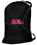 Ole Miss Laundry Bag Black
