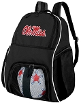 Ole Miss Soccer Backpack or University of Mississippi Volleyball Bag For Boys or Girls