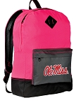University of Mississippi Backpack HI VISIBILITY Ole Miss CLASSIC STYLE For Her Girls Women