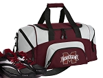 SMALL Mississippi State University Gym Bag MSU Bulldogs Duffle Maroon