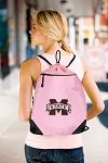 Mississippi State Drawstring Bag Mesh and Microfiber Pink