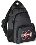 Mississippi Stat Backpack Cross Body Style Gray