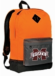 MSU Bulldogs Backpack HI VISIBILITY Orange Mississippi State University CLASSIC STYLE