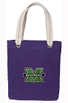 Marshall University Tote Bag RICH COTTON CANVAS Purple