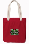 Marshall University Tote Bag RICH COTTON CANVAS Red