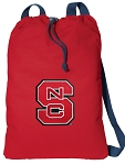 NC State Cotton Drawstring Bag Backpacks Cool RED