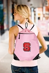 NC State Drawstring Bag Mesh and Microfiber Pink