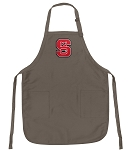 Official NC State Wolfpack Logo Apron Tan