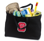 NC State Jumbo Tote Bag Black