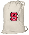 NC State Laundry Bag Natural