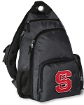 NC State Backpack Cross Body Style Gray